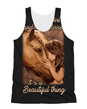 a girl and her horse it's a beautiful thing All-over Unisex Tank thumbnail