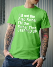 FATHER THAT STEPPED UP Classic T-Shirt lifestyle-mens-crewneck-front-6