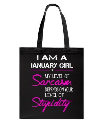 JANUARY GIRL - MY LEVEL OF SARCASM
