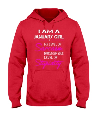 JANUARY GIRL - MY LEVEL OF SARCASM