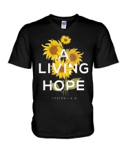 A LIVING HOPE - WARRIOR OF CHRIST V-Neck T-Shirt thumbnail