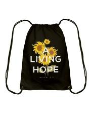 A LIVING HOPE - WARRIOR OF CHRIST Drawstring Bag thumbnail