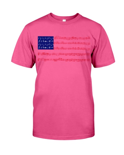 INDEPENDENCE MUSIC NOTE AMERICA FLAG