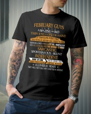 FEBRUARY GUYS AMAZING IN BED Classic T-Shirt lifestyle-mens-crewneck-front-6