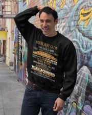 FEBRUARY GUYS AMAZING IN BED Crewneck Sweatshirt lifestyle-unisex-sweatshirt-front-4