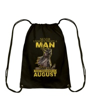 NEVER UNDERESTIMATE A MAN OF FAITH - AUGUST Drawstring Bag thumbnail