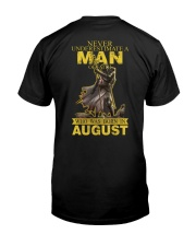 NEVER UNDERESTIMATE A MAN OF FAITH - AUGUST Classic T-Shirt thumbnail