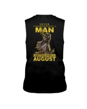 NEVER UNDERESTIMATE A MAN OF FAITH - AUGUST Sleeveless Tee thumbnail