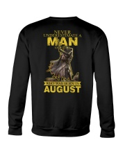 NEVER UNDERESTIMATE A MAN OF FAITH - AUGUST Crewneck Sweatshirt thumbnail