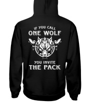 WOLVES - IF YOU CALL ONE WOLF Hooded Sweatshirt back