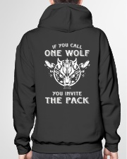 WOLVES - IF YOU CALL ONE WOLF Hooded Sweatshirt garment-hooded-sweatshirt-back-04