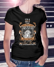 JULY GIRL WAS BORN WITH MY HEART ON MY SLEEVE Ladies T-Shirt lifestyle-women-crewneck-front-7