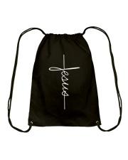 JESUS - WARRIOR OF CHRIST Drawstring Bag thumbnail