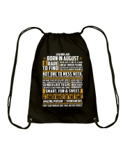 LEGENDS ARE BORN IN AUGUST Drawstring Bag thumbnail