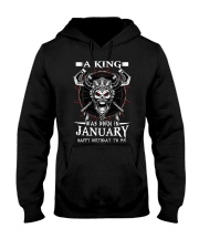A KING WAS BORN IN JANUARY Hooded Sweatshirt thumbnail