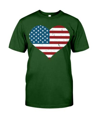 USA FLAG HEART DISTRESSED PATRIOTIC