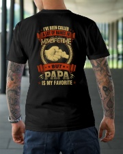PAPA IS MY FAVORITE Classic T-Shirt lifestyle-mens-crewneck-back-3