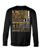 KINGS ARE BORN IN FEBRUARY Crewneck Sweatshirt back