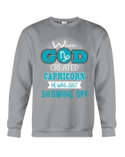 WHEN GOD REATED CAPRICORN Crewneck Sweatshirt thumbnail