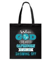 WHEN GOD REATED CAPRICORN Tote Bag thumbnail
