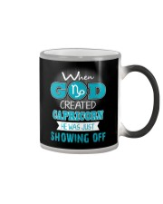 WHEN GOD REATED CAPRICORN Color Changing Mug thumbnail