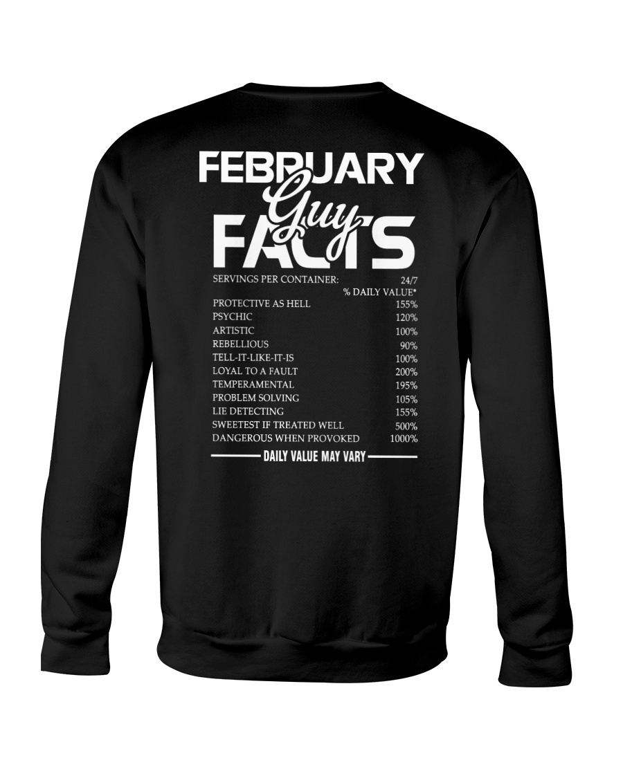 FEBRUARY GUY FACTS Crewneck Sweatshirt