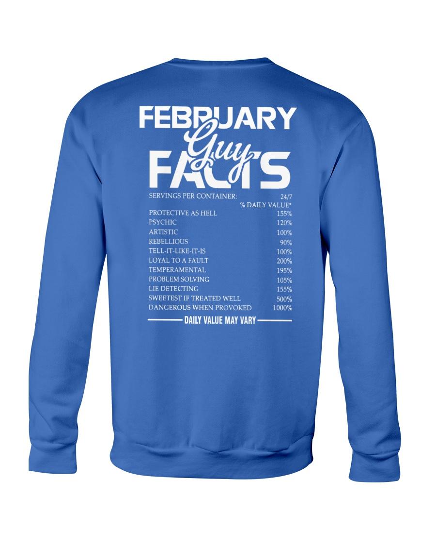 FEBRUARY GUY FACTS Crewneck Sweatshirt