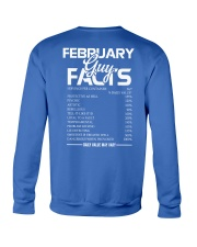 FEBRUARY GUY FACTS Crewneck Sweatshirt back