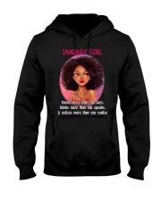 JANUARY GIRL - KNOWS MORE THAN SHE SAYS Hooded Sweatshirt thumbnail