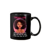 JANUARY GIRL - KNOWS MORE THAN SHE SAYS Mug thumbnail