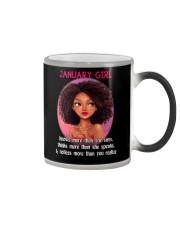 JANUARY GIRL - KNOWS MORE THAN SHE SAYS Color Changing Mug thumbnail