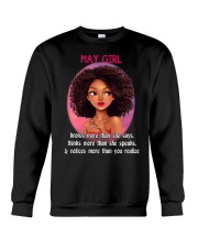 MAY GIRL - KNOWS MORE THAN SHE SAYS Crewneck Sweatshirt thumbnail
