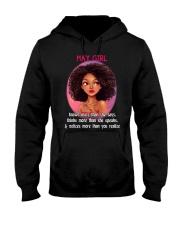 MAY GIRL - KNOWS MORE THAN SHE SAYS Hooded Sweatshirt thumbnail