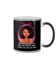 MAY GIRL - KNOWS MORE THAN SHE SAYS Color Changing Mug thumbnail