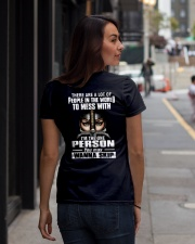 DONT MESS WITH ME - WARRIOR OF CHRIST Ladies T-Shirt lifestyle-women-crewneck-back-1
