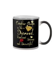OCTOBER QUEEN IS LIKE A DIAMOND Color Changing Mug thumbnail