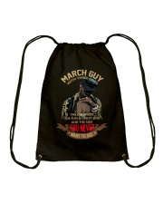 MARCH GUY WITH THREE SIDES Drawstring Bag thumbnail
