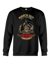 MARCH GUY WITH THREE SIDES Crewneck Sweatshirt thumbnail