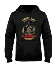 MARCH GUY WITH THREE SIDES Hooded Sweatshirt thumbnail