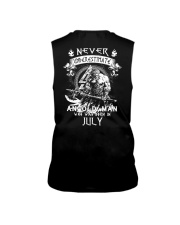 NEVER UNDERESTIMATE AN OLD MAN WAS BORN IN JULY Sleeveless Tee thumbnail