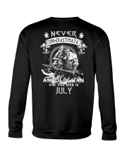 NEVER UNDERESTIMATE AN OLD MAN WAS BORN IN JULY Crewneck Sweatshirt thumbnail
