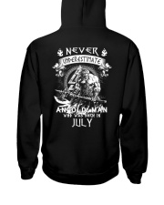 NEVER UNDERESTIMATE AN OLD MAN WAS BORN IN JULY Hooded Sweatshirt thumbnail