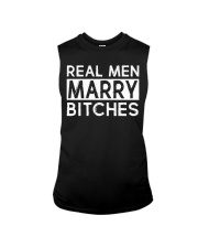 REAL MEN MARRY BITCHES Sleeveless Tee tile