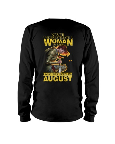 NEVER UNDERESTIMATE A WOMAN OF FAITH - AUGUST