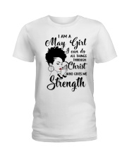 I AM A MAY GIRL Ladies T-Shirt front