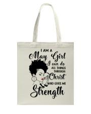 I AM A MAY GIRL Tote Bag thumbnail