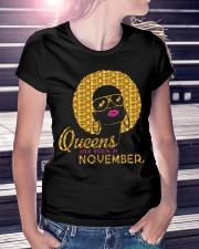 QUEENS ARE BORN IN NOVEMBER Ladies T-Shirt lifestyle-women-crewneck-front-7
