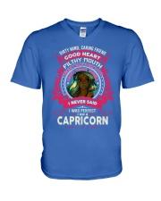 I NEVER SAID I WAS PERFECT - CAPRICORN V-Neck T-Shirt front