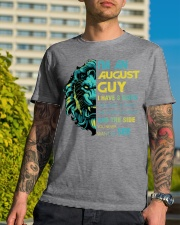 I'M AN AUGUST GUY - I HAVE 3 SIDES Classic T-Shirt lifestyle-mens-crewneck-front-8
