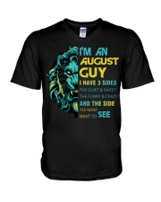 I'M AN AUGUST GUY - I HAVE 3 SIDES V-Neck T-Shirt thumbnail